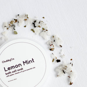 Lemon Mint Bath Salt Soak