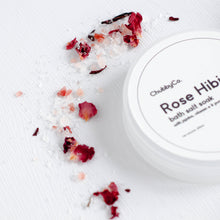 Load image into Gallery viewer, Rose Hibiscus Bath Salt Soak