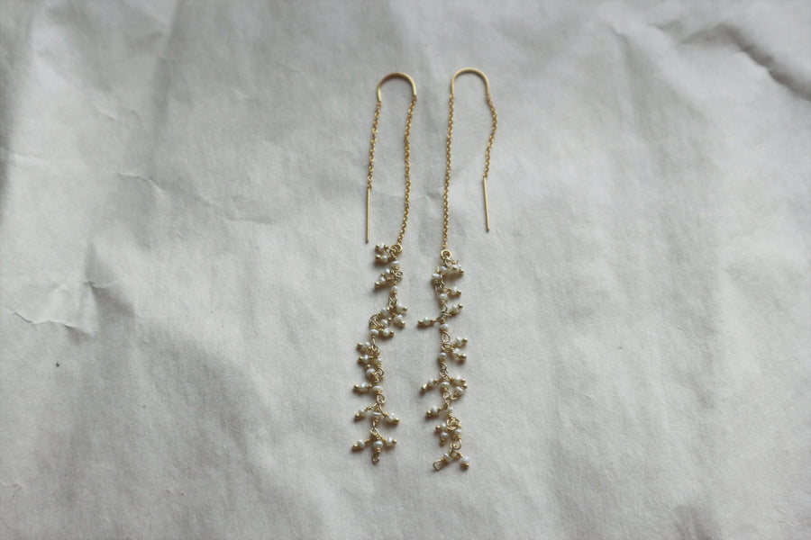 Pearl Threader Earrings