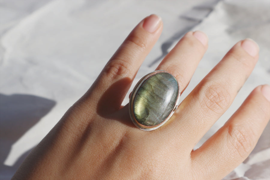 Labradorite Beauty Mark Ring 6