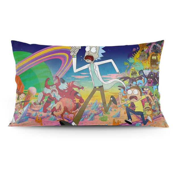 36 x Rick and Morty  Rick Embroidered Plush Cushion Polyester Multi-Colour