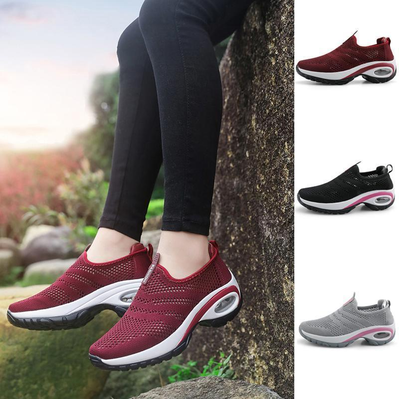 Women Breathable Mesh Slip On Sneakers