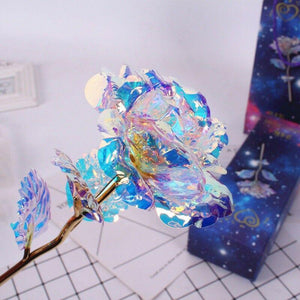 Colorful Galaxy Rose with Love
