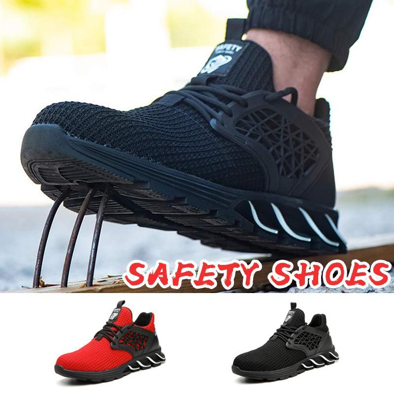 Unisex Comfy Steel Toe Safety Shoes