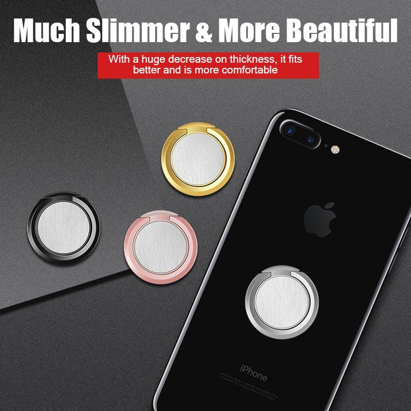 Ultra-Slim Finger Grip Phone Ring Holder