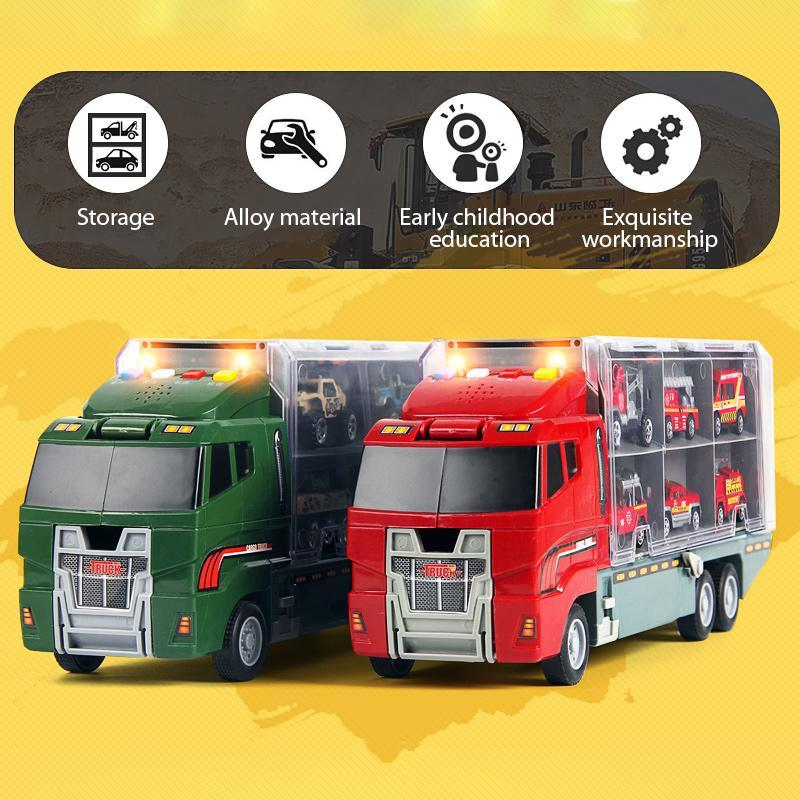 Alloy Storage Truck And Car Model Toy Series