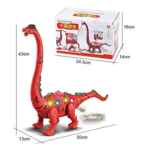 Walking Brachiosaurus Toy with LED Projector