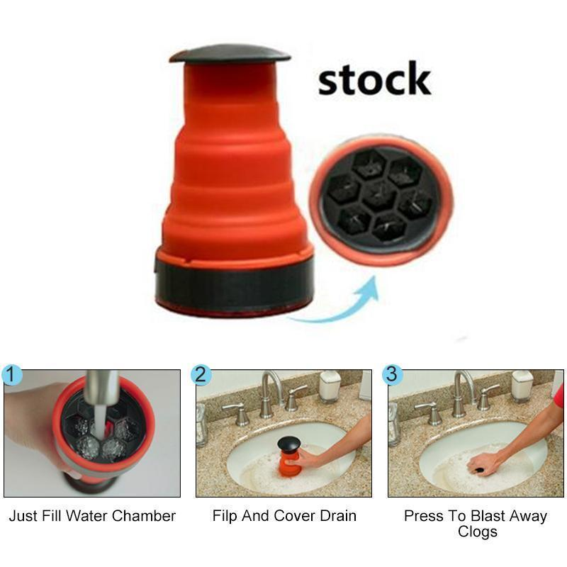 Sink Plunger - Power Drain Blaster