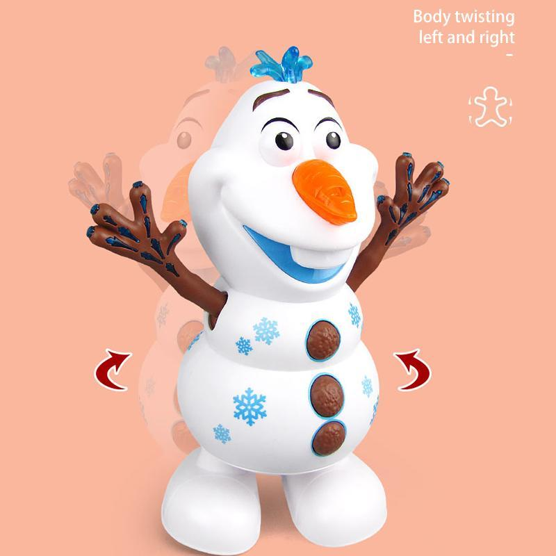 Plastic Musical Dancing Snowman Toy