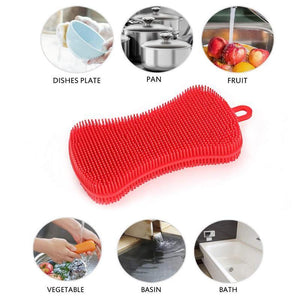 Silicone Kitchen Dishwashing Brush
