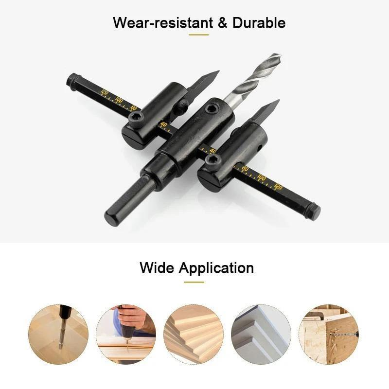 Adjustable Circle Hole Saw Drill Bit Cutter Kit DIY Tool