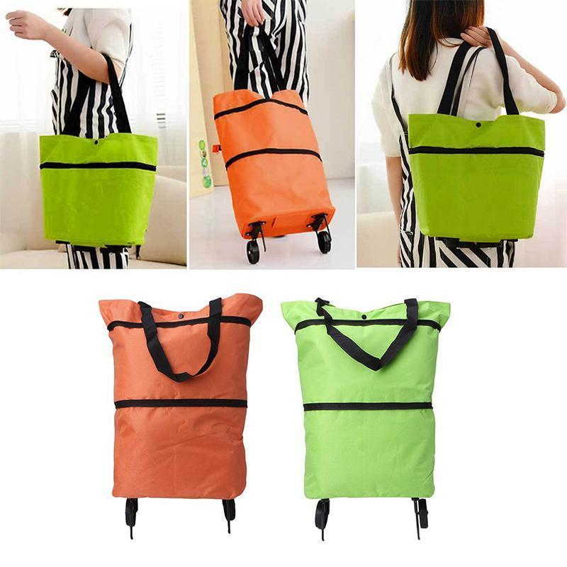 Shopping bag folding green bag
