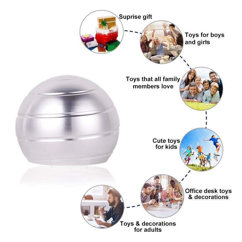 Office Toys Stress Relief Visual Illusion Metal Ball