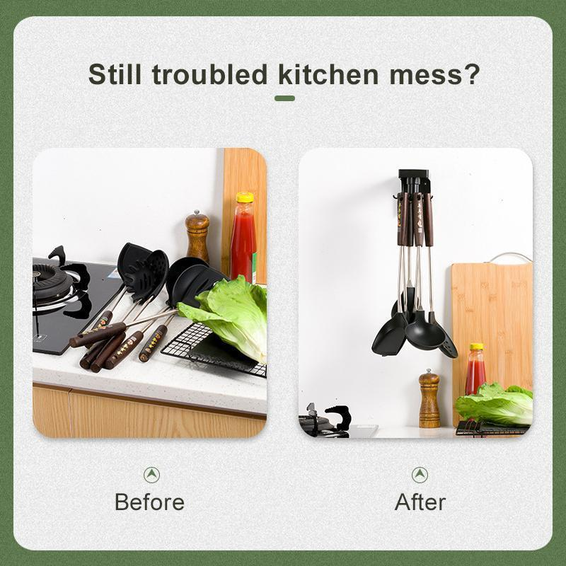 Self-Adhesive Rotatable Kitchen Wall Hooks