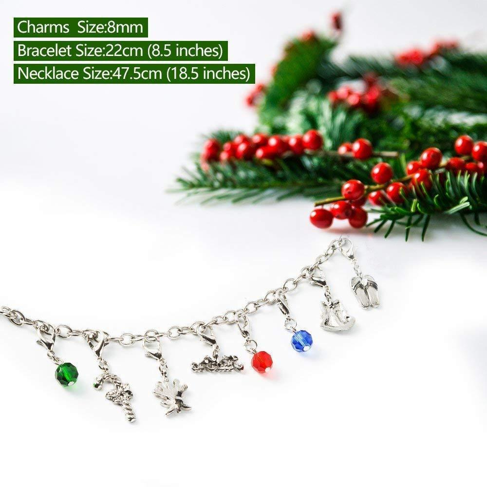 DIY Necklace Bracelet Advent Calendar Christmas Gifts Box