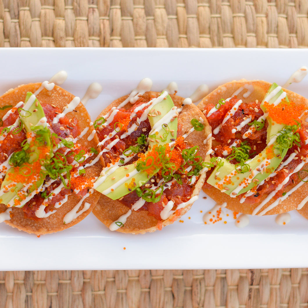 May 8th, Spicy Tuna Tostadas With Veggie Ramen, or Steak and Potatoes
