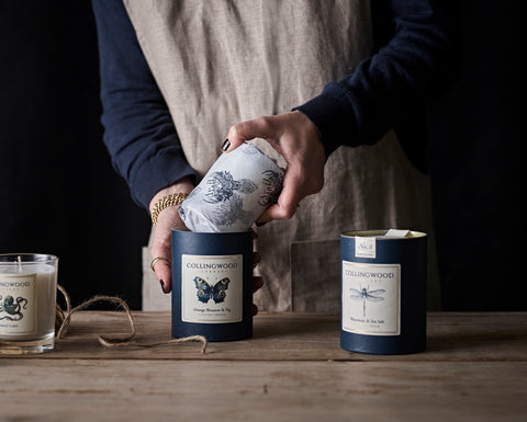 Sustainable natural eco scented candles Collingwood of Somerset