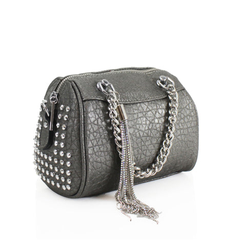 Mock Croc Stud Detail Crossbody Bag