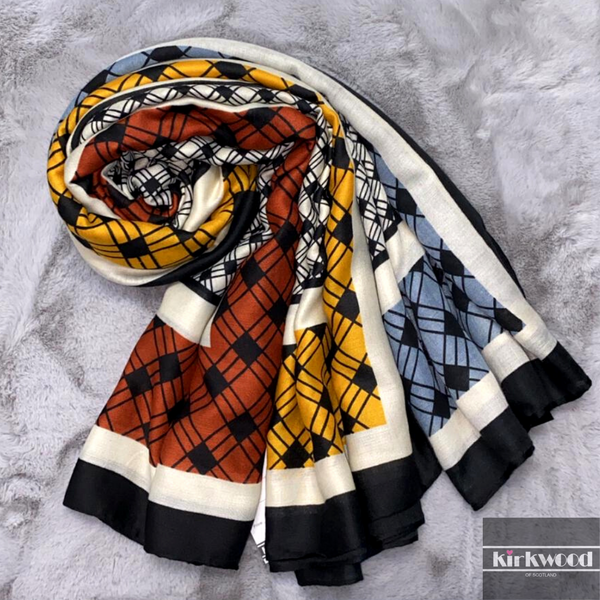Coloured Print Style Scarf