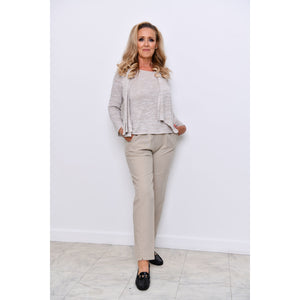 Stone Half Elasticated Trousers