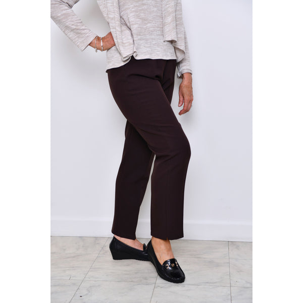 Brown Half Elasticated Trousers