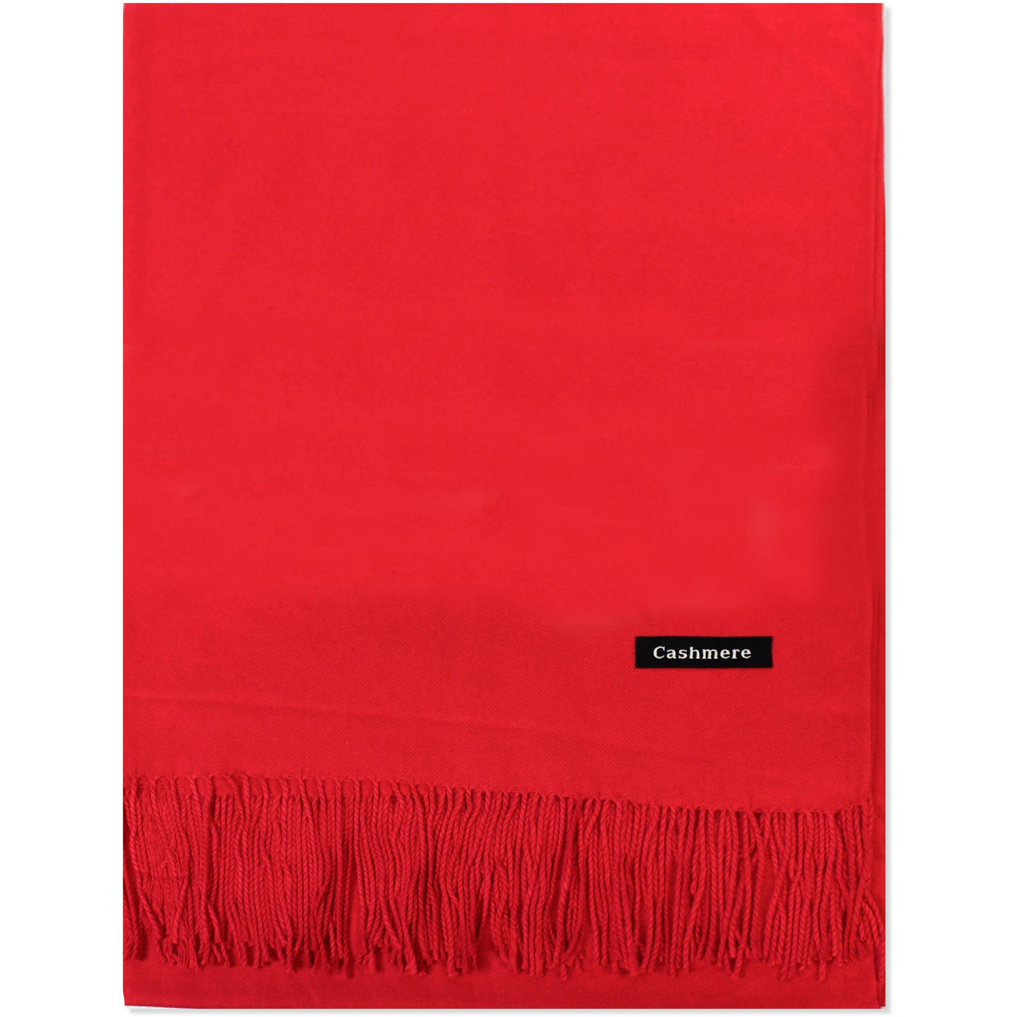 Red Cashmere Scarf - Kirkwood of Scotland