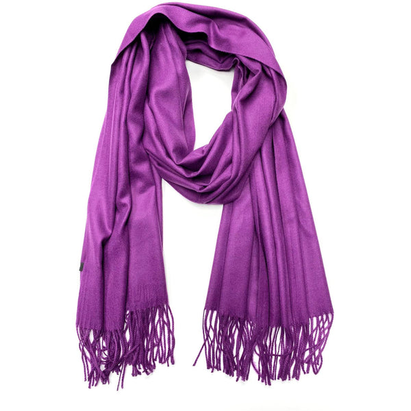 Purple Cashmere Scarf - Kirkwood of Scotland