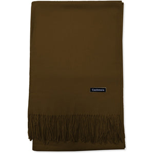Brown Cashmere Scarf - Kirkwood of Scotland