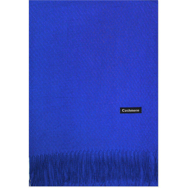 Royal Blue Cashmere Scarf - Kirkwood of Scotland