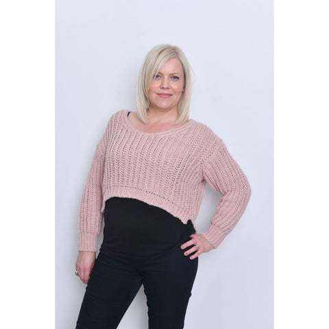 Pink Crop Jumper