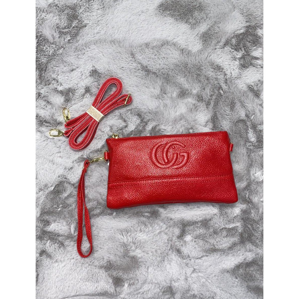 Real Leather CG Clutch Bag
