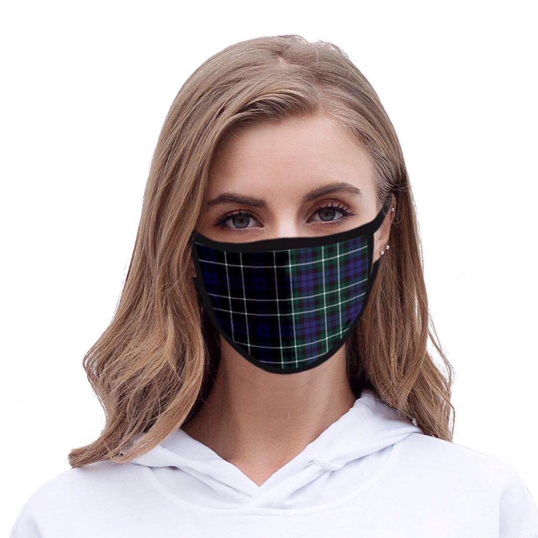 Tartan Blue Print Mask - Kirkwood of Scotland