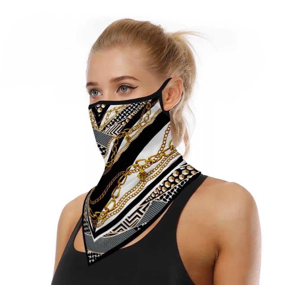 Chain Print Bandana Face Mask - Kirkwood of Scotland