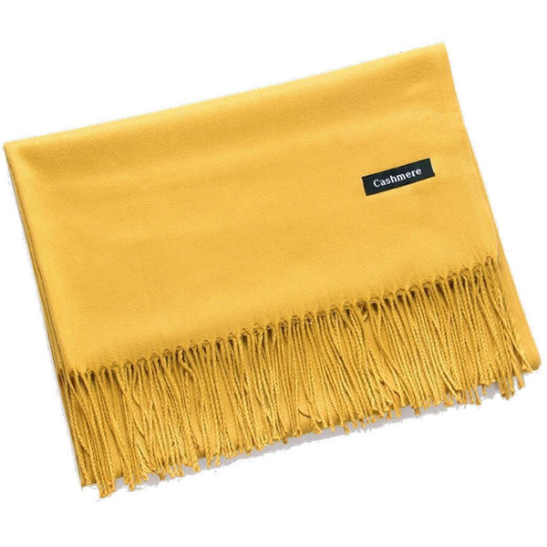 Mustard Cashmere Scarf - Kirkwood of Scotland
