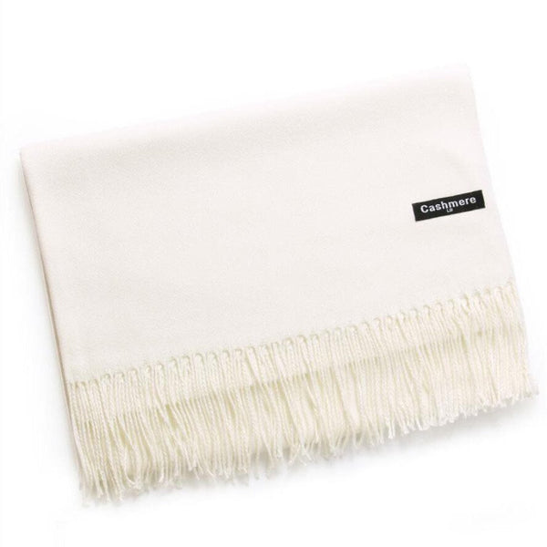 Cream Cashmere Scarf - Kirkwood of Scotland