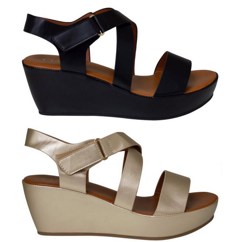 Vogue Platform Wedge Strap