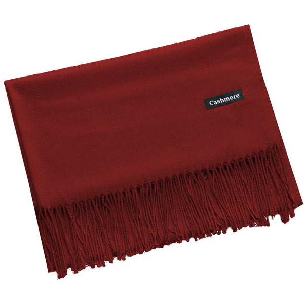 Maroon Cashmere Scarf - Kirkwood of Scotland
