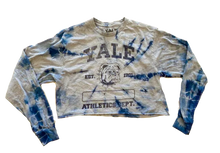 Load image into Gallery viewer, Yale Long Sleeve Crop Top