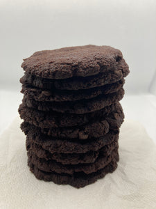 Double Dark Chocolate Chip Cookies (1 g Net Carbs per Cookie) (Box of 4 Pieces) Keto, Paleo and Diabetic Friendly and Gluten Free.