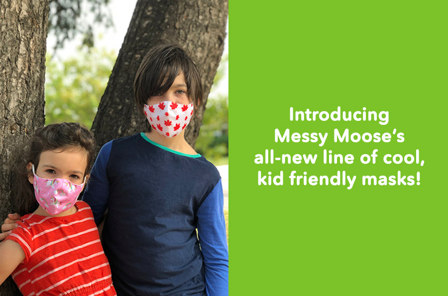 Introducing Messy Moose's Kids Face Masks Collection