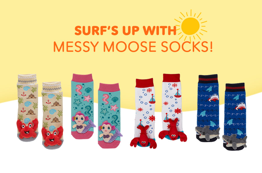 Surf's Up with Messy Moose Socks!