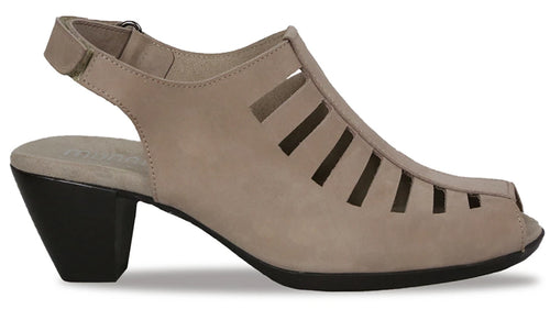 The Munro American Abby is a slingback pump great for many occasions.   Featured here in taupe.