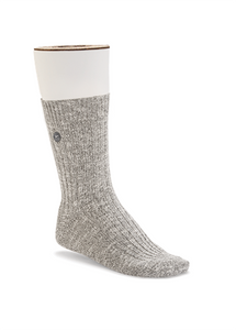 Birkenstock Grey/White Slub Socks (Women)