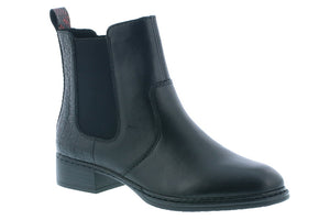 Rieker Conny 94 Black Leather Boot (Women)