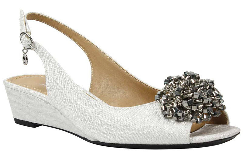 J. Renee Donalda White/Silver Pump (Women)