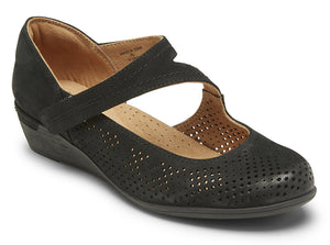 Cobb Hill Devyn Mary Jane Black Leather (Women)