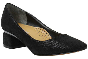 J. Renee Emiri Black Lizard Print Pump (Women)
