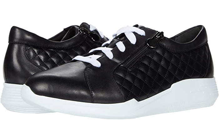 black leather runners womens