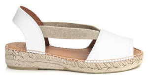 Toni Pons Etna White Leather Sandal (Women)