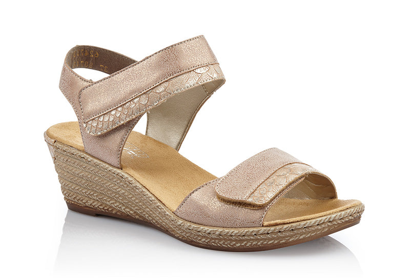 Rieker Fanni 70 Rose Gold Sandal (Women)